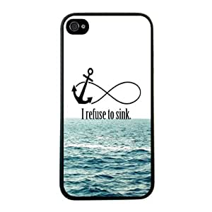 2015 customized Change Protective I Refuse To Sink Waves Hard Back Case Cover For iPhone 5 5G 5S