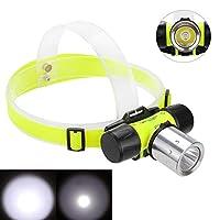 hAohAnwuyg Diving Headlamp,Headlight Outdoor Waterproof Highlight LED Diving Headlamp Flashlight Torch Headlight