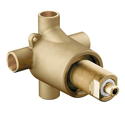 Moen 3360 Commercial Brass Three-Function Shower Transfer Valve, 1/2-Inch CC ()