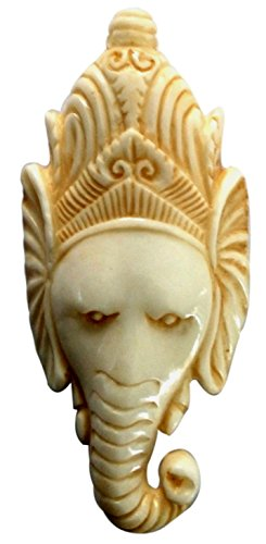 Bone Handicraft (Jewelry with Soul Elephant Focal Bead Antique Color handcarved from Buffalo Bone)