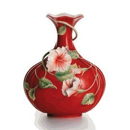 Franz Porcelain Island Beauty hibiscus flower vase (Porcelain Flower Hibiscus)