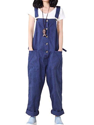 76c3a27f8fe3 Vogstyle Women s Casual Printing Denim Jumpsuit Pants Style 1-Blue   Amazon.co.uk  Clothing