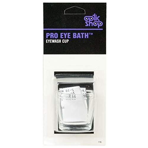 Pro Eye Bath Glass Eye Wash Cup with New & Improved Beveled Shape (Best Over The Counter Medicine For Stye)