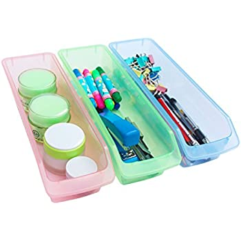 office drawer dividers. honla small plastic drawer organizer traysbinsset of 3clear dividers office d