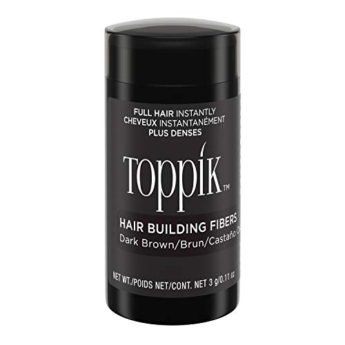 Toppik Hair Building Fibers, Dark Brown, 3g (Hair Color To Make Hair Look Thicker)