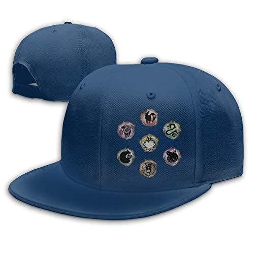 KissKid 7 Deadly Sins Unisex Relaxed Adjustable Baseball Cap Hats Navy ()