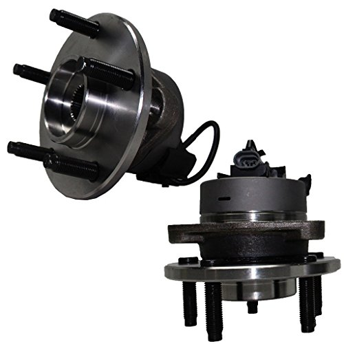 Detroit Axle 5-Lug w/ABS Front Driver and Passenger Side Wheel Hub and Bearing Assembly for - Cobalt, Pursuit w/ABS - 5 Lug Wheel and HHR w/ABS & Rear Drum - 2007 Chevrolet Ss