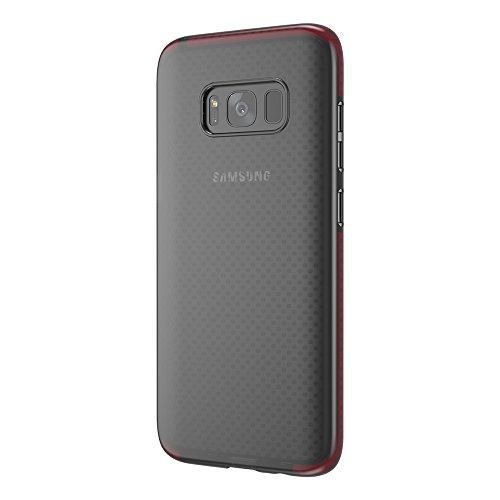 Grandcaser Funda para Samsung Galaxy S8,[Tough Armor] Slim Fit Flexible Goma Silicona TPU Gel Estuche Protectora de Claridad Diseño Lunares Textura Cover Duro Antideslizante Vistoso Parachoques - Tran Transparente Negro