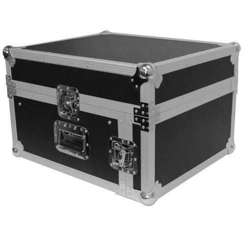 Seismic Audio - SAMRC-4U - 4 Space Rack Case with Slant Mixer Top - PA/DJ Pro Audio Road Case by Seismic Audio
