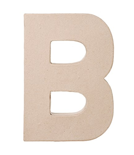 Darice Paper Mache Letter B, 8 by 5 by -