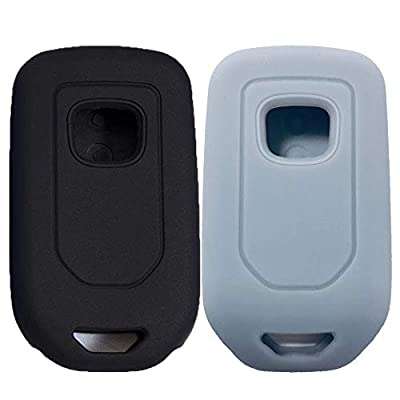 KOSMIQ 2Pcs Smart Key Fob Skin Cover Case Jakcet Shell Bag Protector for 2020 2020 2020 2020 2016 2015 Honda Accord Civic CR-V CRV Pilot EX-L Touring Premium Black Purple (Black+LightGray): Sports & Outdoors