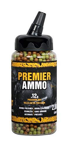 Crosman Premier U-SAP2000 Airsoft Ammo camo, 6mm, .12 gram, 2,000 count