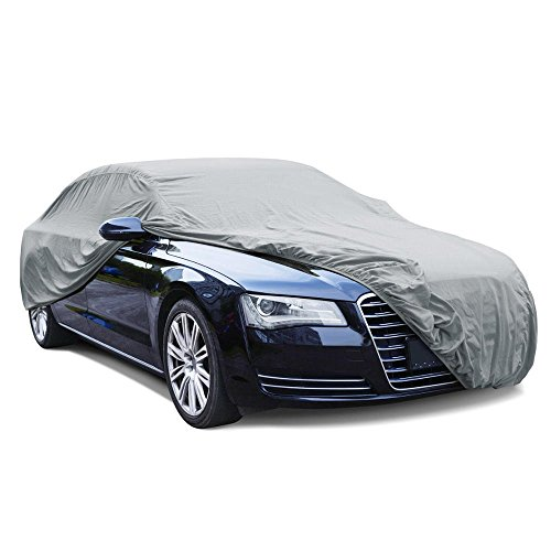 bdk universal fit cover for car sedan uv dust proof water resistant gray fit up to 210. Black Bedroom Furniture Sets. Home Design Ideas