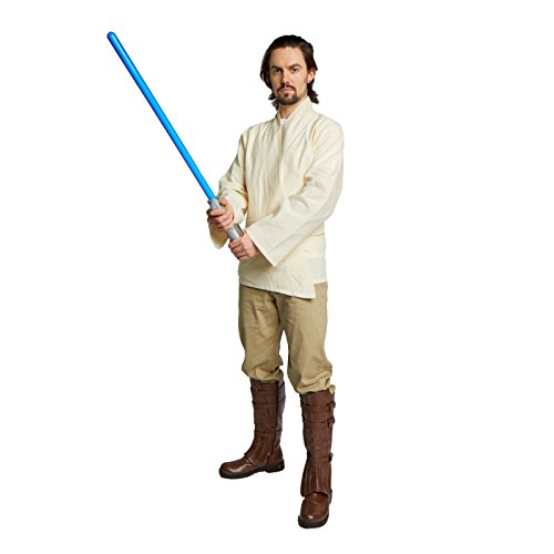 Largemouth Men's Jedi Sith Tunic Costume (Small, Beige)]()