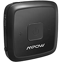 Mpow Mini Bluetooth 4.1 Receiver with Swivel Mental-Clip for Running, Portable Bluetooth Car Adapter & Car Aux Adapter for Music Streaming Sound System, Hands-free Audio Adapter & Wireless Car Kits