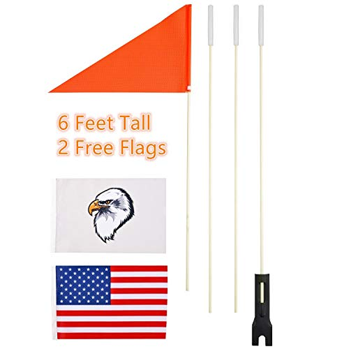 szlzhsm Bicycle Safety Flag 6' Safety Flag Bicycle Safty Flag Eagle and American Flag