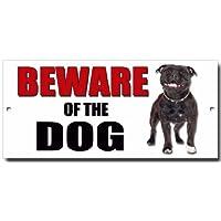 "'""attenti al cane"" Staffordshire Bull terrier metal Sign"