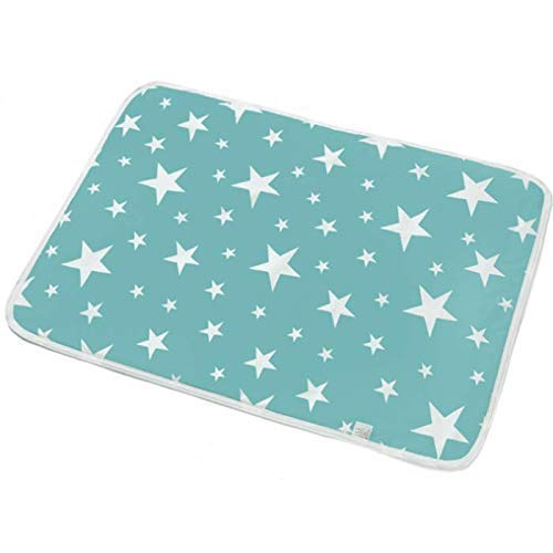 (DALADALA'S Original Portable Premium Table Changing Pad- Quick Change Baby Diaper Changing Mat – Super Soft Cotton – Waterproof – Portable and Foldable – Perfect for Indoor and Outdoor - 19.6