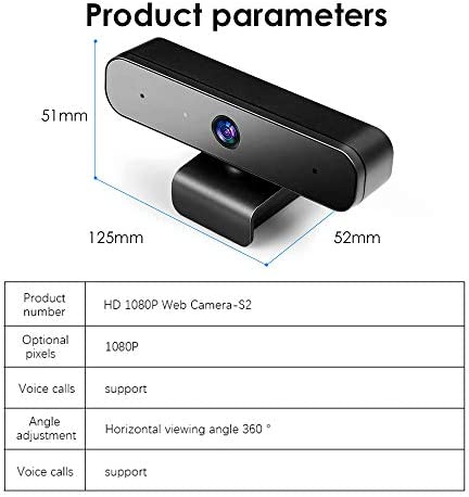 Full HD 1080P USB Web Camera (30fps), Plug & Play Webcam with Built-in Dual Microphone, Multi-Compatible, for Video Conferencing, Recording, and Streaming