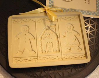 Brown Bag Cookie Mold Gingerbread Family Cut Apart