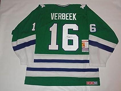 Pat Verbeek Autographed Jersey - Vintage Ccm Home Coa - JSA ... 0b958bbc126