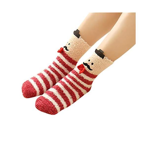 Fuzzy Socks, Seaintheson Ladies Girls Winter Warm 3D Cute Animal Socks Fuzzy Bed Sleep Slipper Socks Cozy Christmas Stockings -