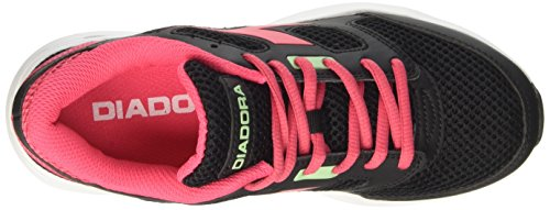 Diadora Chaussures Running Sneaker Jogging Femmes Forme 7 Noir / Rose Brillant Taille Nero