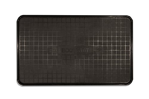 Under Construction Placemat - Resilia - Black Floor Mat for Dog Bowls, Cat Litter, Boots, Shoes and Plants – 17 Inches x 28 Inches Tray, Made in the USA
