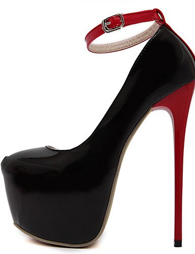 cn40 5 de 5 eu39 ZQ black us8 Confort Tacones Redonda 5 Punta Zapatos cn40 us6 Tac¨®n uk6 PU red us8 5 mujer eu36 uk6 Negro Rojo Boda Vestido eu39 cn36 Stiletto red uk4 55naRqS