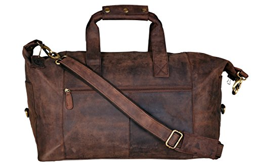Cuero 21 Inch Square Duffel Travel Gym Sports Overnight Weekend Leather Bag by cuero