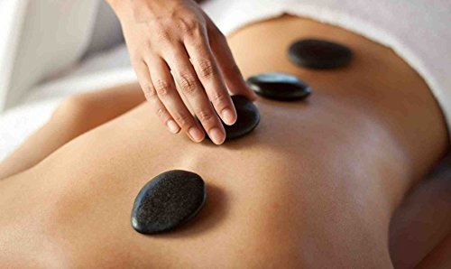 Romonacr 20 Pcs Professional Massage Stones Set Natural Lava Basalt Rock Hot Stone for Spa, Massage Therapy by Romonacr (Image #8)