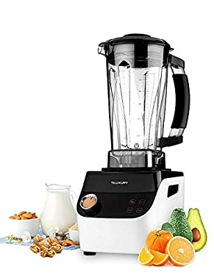 Multifunctional Smoothie Blender, High-Speed Blender,Professional Smoothie Blender with BPA-Free Container,Household Fruits Mixer, Tiluxury, 1500W, White