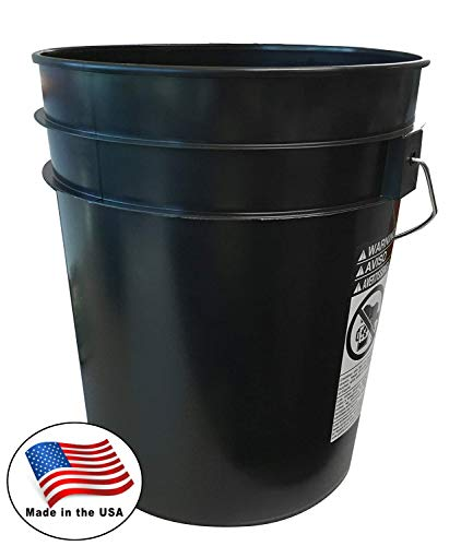 Argee RG5500BK/10 -Pack ,Plastic Bucket 5 gallon Black