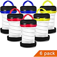 6-Pack MISPO Camping Lantern Flashlights (3 Colors,Batteries are Not Included)