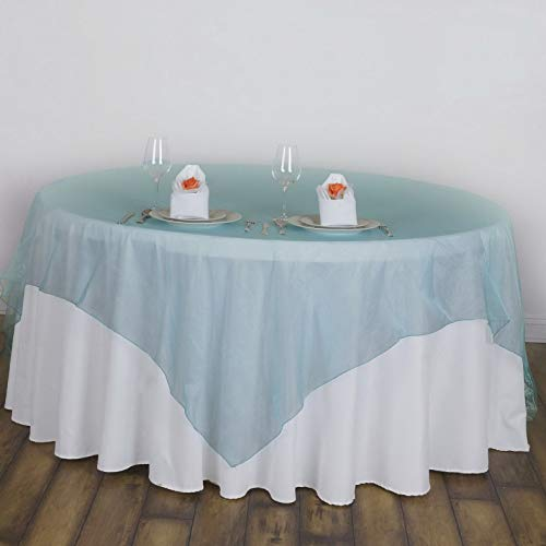 Mikash 90x90 Sheer Organza Overlays Wedding Party Table