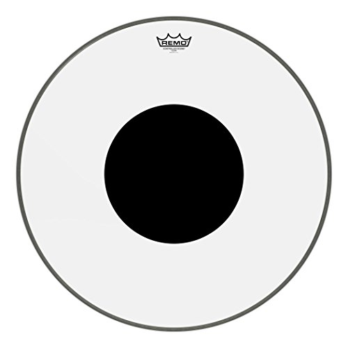 Clear Bass Head - Remo Controlled Sound Clear Bass Drum Head with Black Dot - 22 Inch