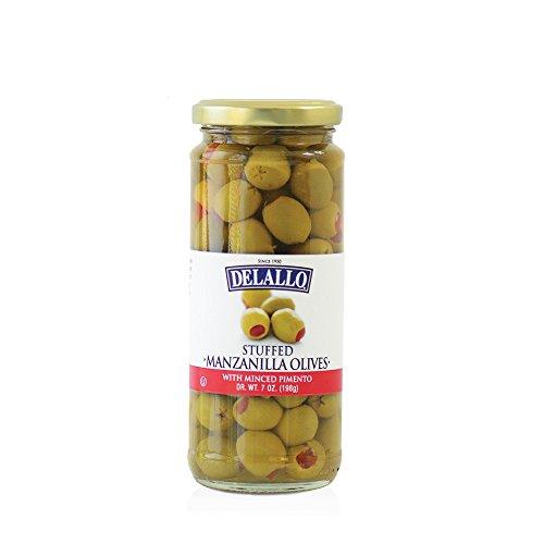 DeLallo Stuffed Manzanilla Olives, 7 Ounce (Pack of 12) Delallo Olives