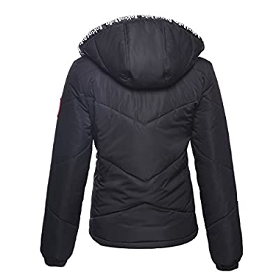 Rokka&Rolla Women's Water-Resistant Hooded Thickened Insulated Quilted Puffer Coat Heavy Padded Winter Parka Anorak Jacket: Clothing