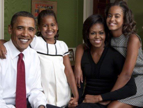 Home Comforts Laminated Poster Malia Sasha Barack Obama Michelle Family Vivid Imagery Poster Print 11 x 17