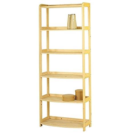 Scaffale libreria da ufficio in legno massello grezzo abete ...