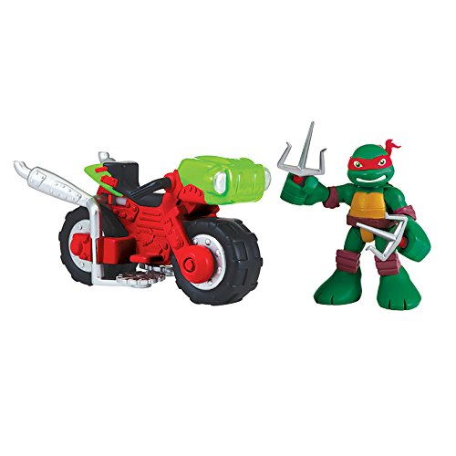 Teenage Mutant Ninja Turtles Pre-Cool Half Shell Heroes Raphael with Mini Cycle Figure and Vehicle 2 Pack for $<!--$18.32-->
