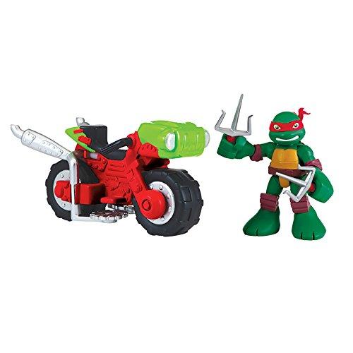 Teenage Mutant Ninja Turtles Pre-Cool Half Shell Heroes Raphael with Mini Cycle Figure and Vehicle 2 Pack (Playmates Tmnt Turtles)