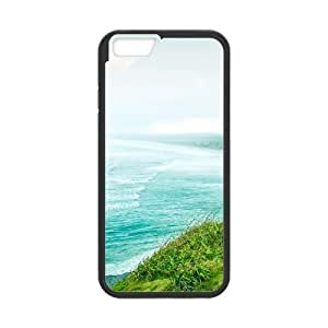 [Funny Series] IPhone 6 Plus Case Waves and Coastal Trees, 5.5 Inches Case for Iphone 6 Plus Okaycosama - Black
