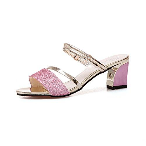 Paire De Sandales Chaussures Une Avec Chaussure Talons Violette 4wIIfp1qRx