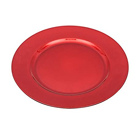 Set of Charger Plates in Gold Silver or Red Choose 2 red, 2 4 or 6 Plate Quality Table Accessories from Homestreet