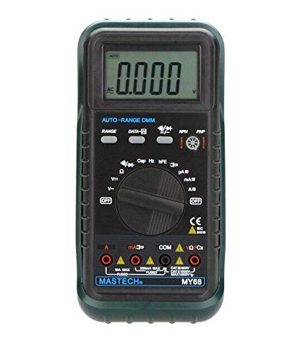 MASTECH MY68 Handheld Auto Range Digital Multimeter DMM w/Capacitance Frequency & hFE (Dmm Digital Multimeter)
