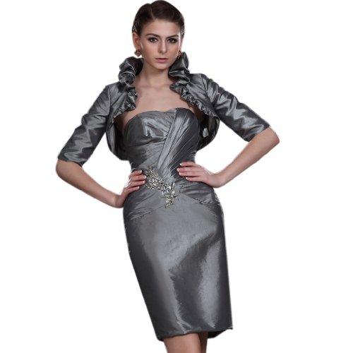 Ausschnitt Herz Kurz Silber Damen Linie Etui Charmeuse Kleidungen Mini Dearta Abendkleider xwZIqXH