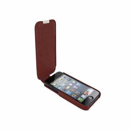 Piel Frama U638COM iMagnum Krokodil Optik Ledertasche für Apple iPhone 5C braun