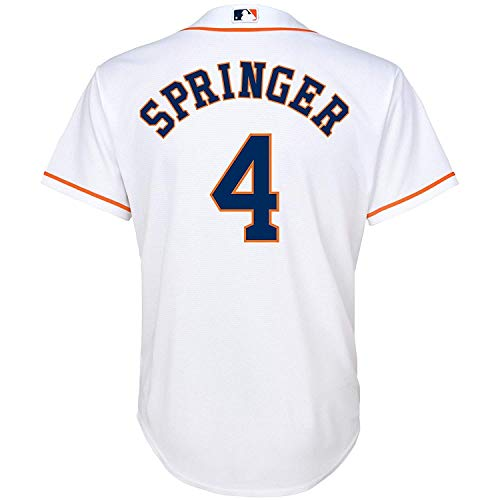 (Outerstuff Youth Kids 4 George Springer Houston Astros Baseball Jersey White Size 10-12)