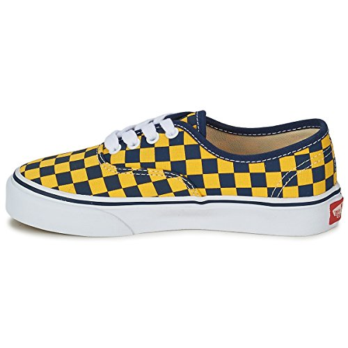 Vans - Zapatillas de Lona para hombre Dress Blue / Yellow Checker